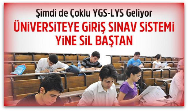 Üniversite sınav sistemi sil baştan, Çoklu YGS-LYS geliyor