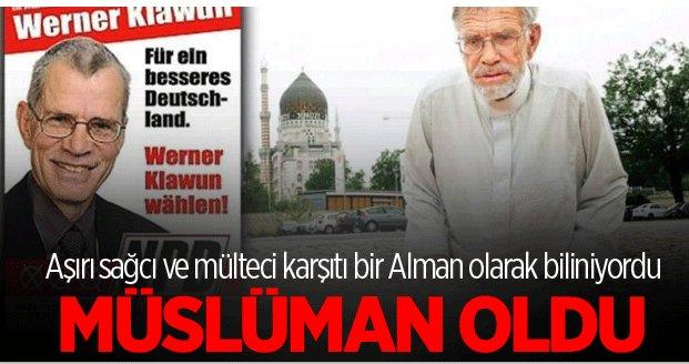 Werner Klawun Müslüman oldu