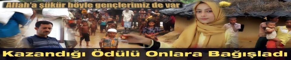 Ödülü Arakan'a Bağışladı