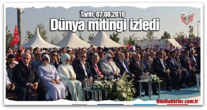 Yenikapı Mitingi\'nde tarihi fotoğraf. Liderlerin konuşmaları
