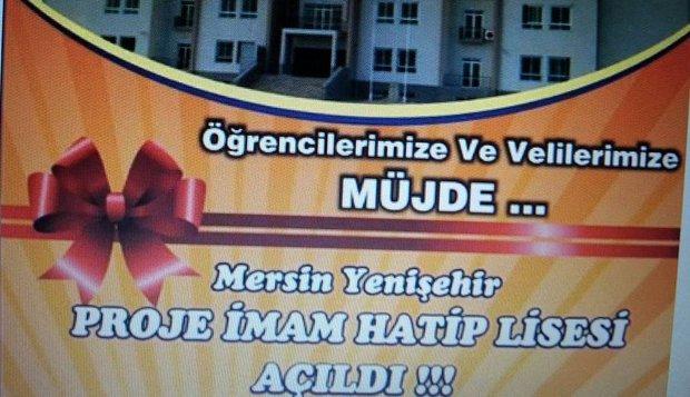 Yenişehir Proje İmam Hatip Lisesi Açılıyor