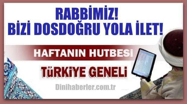 01.01.2016 Tarihli okunacak hutbe.. Turkiye Geneli