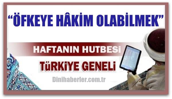 01.04.2016 Tarihli okunacak hutbe.. Turkiye Genel
