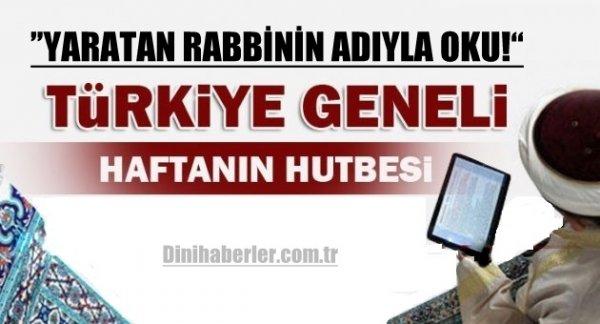 02.10.2015. Tarihli okunacak hutbe.. Turkiye Geneli