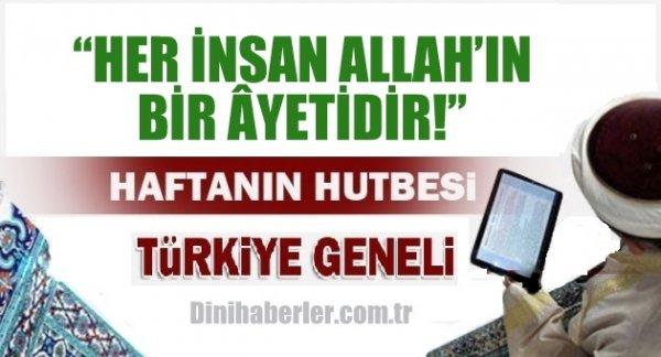 06.11.2015. Tarihli okunacak hutbe.. Turkiye Geneli