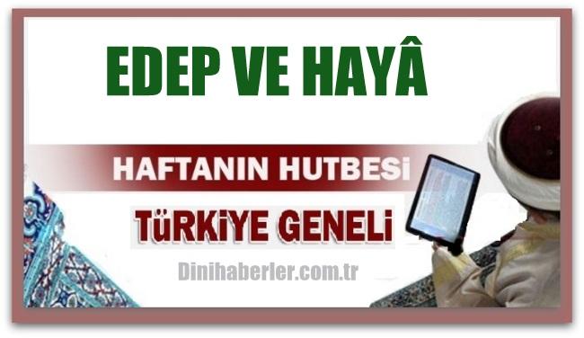 08.01.2016 Tarihli okunacak hutbe.. Turkiye Geneli