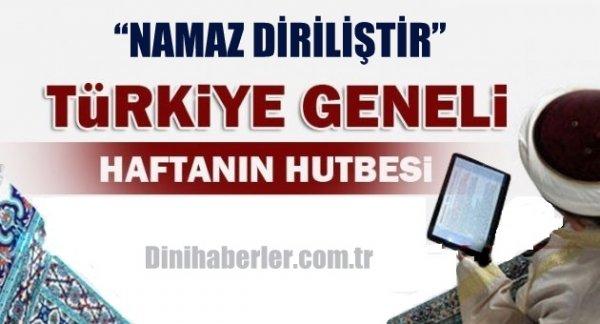 09.10.2015. Tarihli okunacak hutbe.. Turkiye Geneli