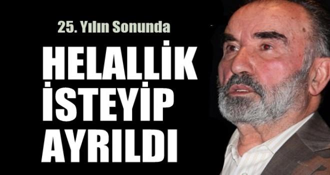 Prof. Dr. Hayrettin Karaman helallik diledi