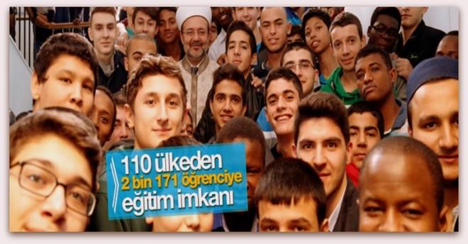 110 ülkeden 2 bin 171 öğrenciye eğitim imkanı