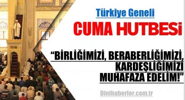 11.09.2015. Tarihli okunacak hutbe.. Turkiye Geneli