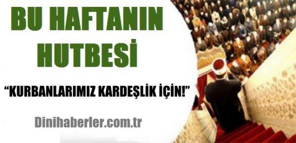 18.09.2015. Tarihli okunacak hutbe.. Turkiye Geneli