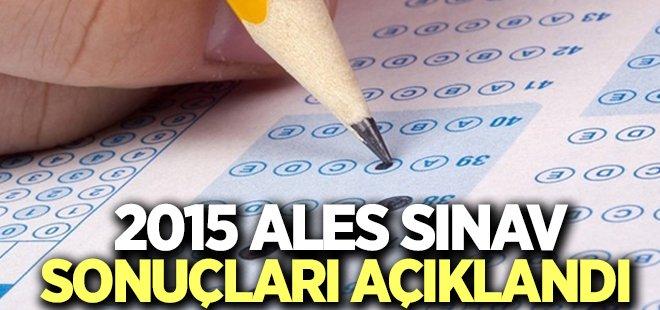 2015 ALES sonuçları açıklandı