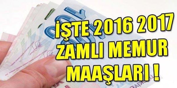 2016-2017 zamlı memur maaşları belli oldu