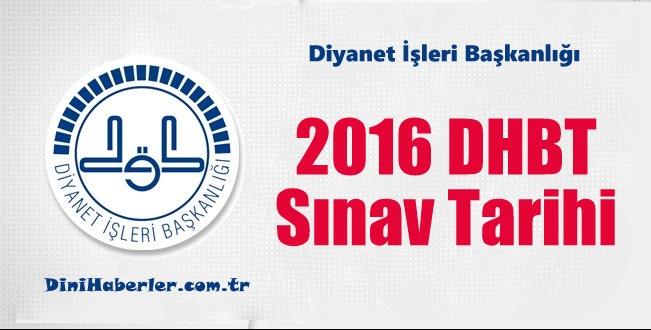 2016 DHBT Sınav tarihi
