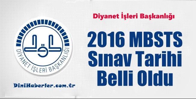 2016 MBSTS tarihi belli oldu