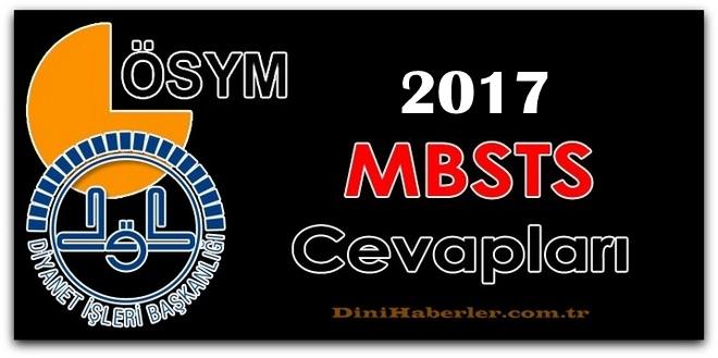 2017 MBSTS Soru ve Cevapları