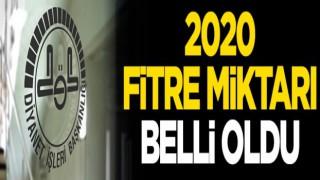 2020 Yılı Asgari Fitre Miktarı Açıklandı