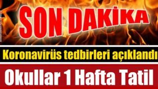 Okullar 1 hafta Tatil