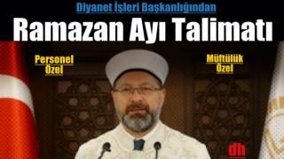 Ramazan Ayı Hizmetlerine Dair Talimat