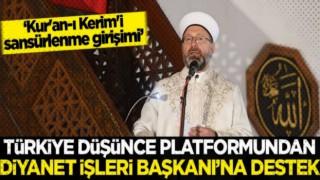 Türkiye Düşünce Platformu'ndan Başkan Ali Erbaş'a Destek