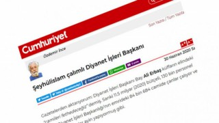 Cumhuriyet, Ali Erbaş'ın Sözlerini Çarpıtarak İslam Düşmanlığını Ortaya Koydu
