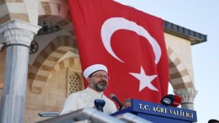 Recep Tayyip Erdoğan Camii dualarla açıldı