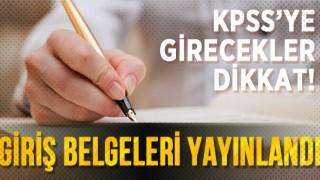 KPSS Ortaöğretim sınav giriş belgeleri yayımlandı