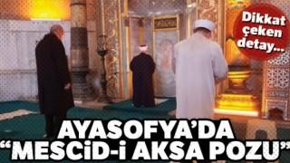 Ayasofya Camii'nde cuma namazını Mescid-i Aksa Camii imamı kıldırdı!