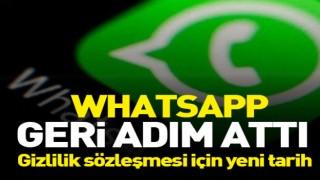 WhatsApp'tan geri adım! Tepki çeken gizlilik sözleşmesi 3 ay ertelendi