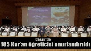 Cezayir'de 185 Kur'an öğreticisi onurlandırıldı