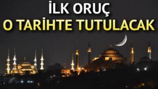 Astronomik hesaplamalara göre Türkiye'de orucun başlangıcı