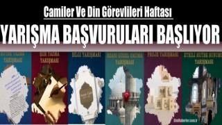 Camiler Ve Din Görevlileri Haftası yarışma başvuruları başlıyor