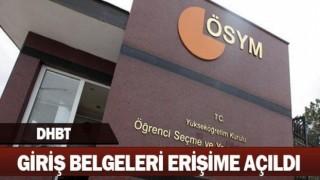 DHBT Sınav Giriş Belgeleri erişime açıldı.