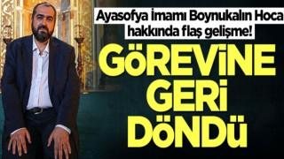 Prof. Dr. Mehmet Boynukalın Ayasofya Camii İmamlığından Ayrıldı!