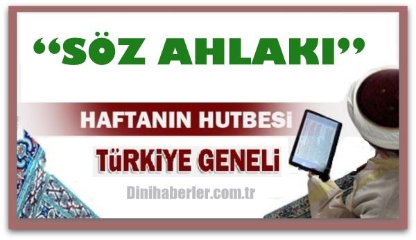 22.01.2016 Tarihli okunacak hutbe.. Turkiye Geneli