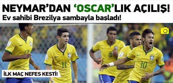 Neymar'dan 'Oscar'lık açılış!