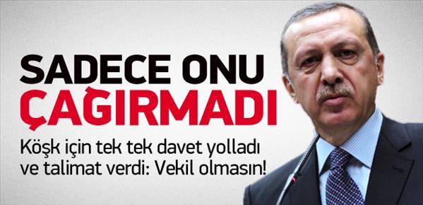 Erdoğan, Köşk zirvesi için bu isimleri çağırdı