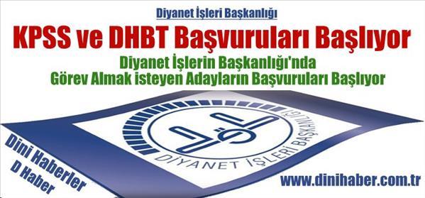 DHBT Sınavına Katılmak İsteyenlerin Müracaatları Başlıyor