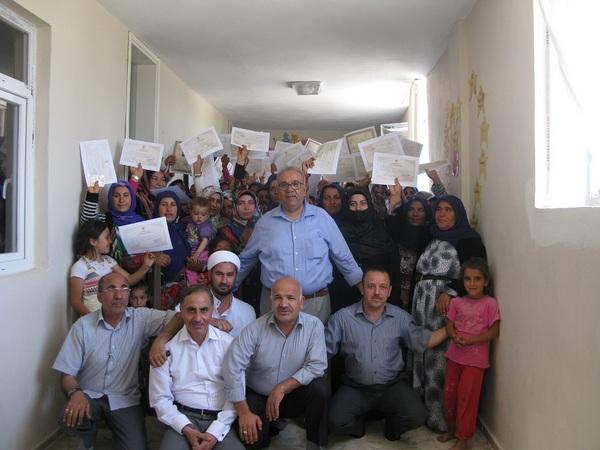 Kur'an Kursu öğrencilerine Başarı ve Katılım Belgeleri verildi.