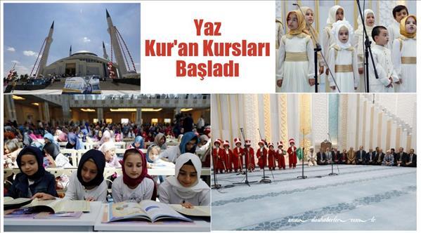 Yaz Kur'an kursları eğitime başladı…