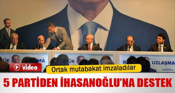 İhsanoğlu için ortak mutabakat metnini imzaladılar