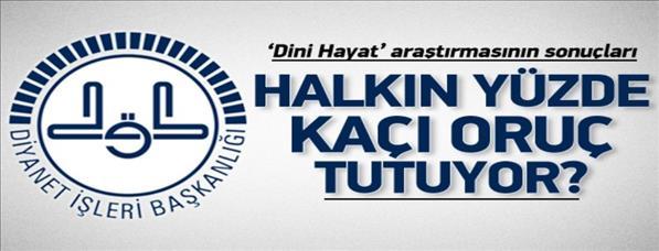 TUİK: Halkın % 99'u Müslüman hissediyor