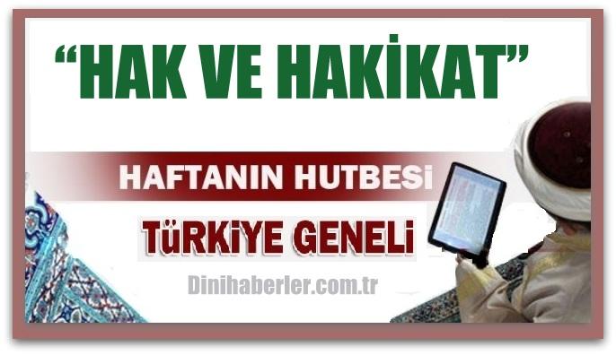 25.03.2016 Tarihli okunacak hutbe.. Turkiye Genel