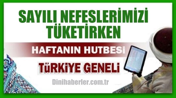 25.12.2015 Tarihli okunacak hutbe.. Turkiye Geneli