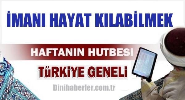 27.11.2015 Tarihli okunacak hutbe.. Turkiye Geneli