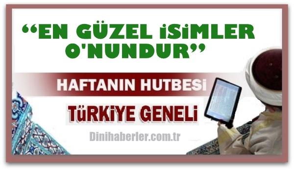 29.01.2016 Tarihli okunacak hutbe.. Turkiye Geneli