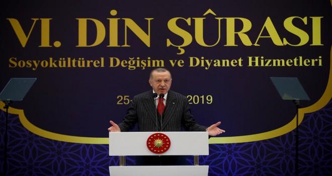 Cumhurbaşkanı Erdoğan, 6. Din Şûrası nın kapanış programında konuştu