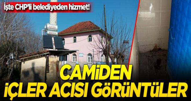 Bakımını CHP'li belediyenin yaptığı camide içler acısı görüntüler