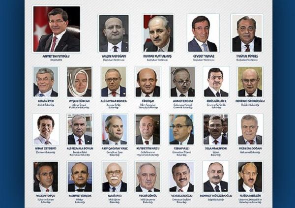 63. Hükümet'te yer alan isimler
