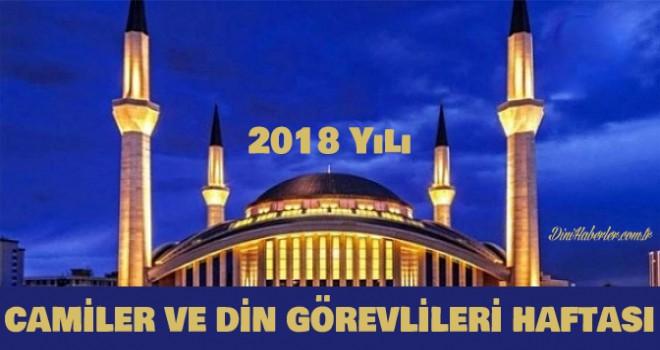 2018 Yılı Camiler ve Din Görevlileri Haftası Teması